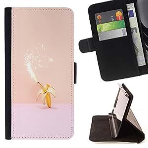 Momo Phone Case / Flip Funda de Cuero Case Cover - Magia plátano cumpleaños rosa melocotón Fireworks - LG G4c Curve H522Y (G4 MINI), NOT FOR LG G4