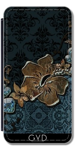 Leder Flip Case Tasche Hülle für Apple Iphone 7 Plus / 8 Plus - Blau Vintage-Design by nicky2342