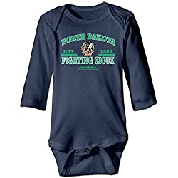 Bro-Custom Fighting University Of North Dakota For 6-24 Months Baby Romper Outfits 24 Months Navy