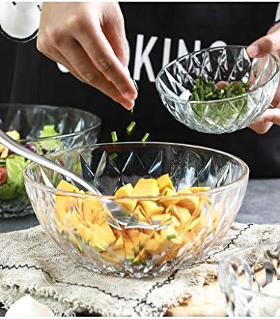 Ciotola in ceramica Ciotole Ciotole Ciotola di vetro trasparente fine, Grande ciotola di verdure/frutta/insalata/pasta for regali del ristorante in cucina (Size : 5 inches)