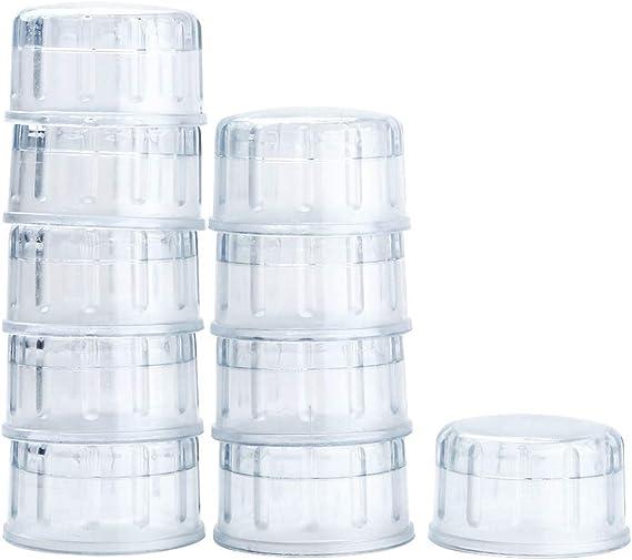 dPois 10 Pack Tapas para Coctelera Coctel Mezclador Bartender Tool Máquina de Café Helado Cóctel Coctelera de Resina Barra 500 ml 700 ml Transparente One Size: Amazon.es: Ropa y accesorios