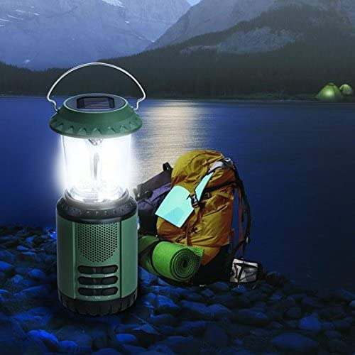 Holidays Perfect for Emergency SOS Light Camping Walking 2 Years Warranty Included NEW Re-Wind Wind-Up Solar Outdoor Rechargeable 6x LED Lantern with FM Radio and Hanging Handle Caravans No Batteries Required Hiking Festivals