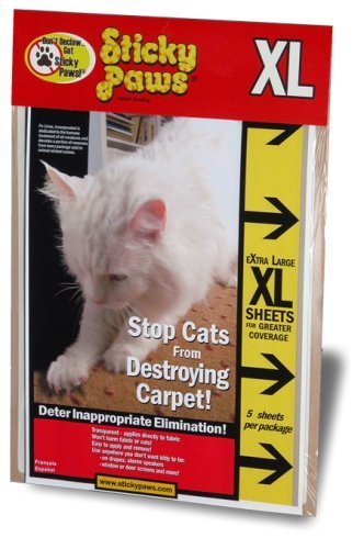 Sticky Paws Furniture Strips Keep Cats From Scratching Couches & Destroying Carpet - 5 XL Sheets (9