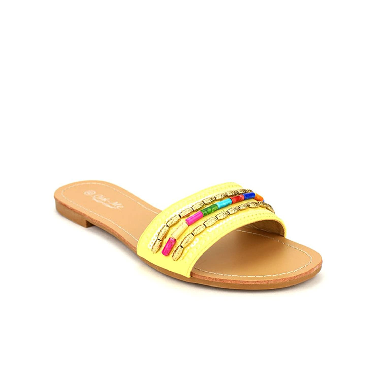 best Cendriyon, Sandale jaune YELL CINKS MODA Chaussures Femme
