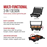 Chefman Electric Panini Press Grill and Gourmet