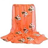 Dabixx Women Quality Scarf Silk Soft Beach Shawls Scarves Silk Wraps Hijab Scarves 7#