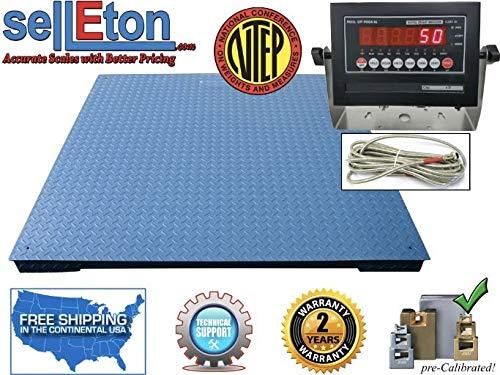 Selletons NTEP Industrial Warehouse Floor Scale 5 x 5 60