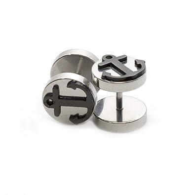 Amazon.com: EG Gifts - Pendientes falsos de oreja con diseño ...