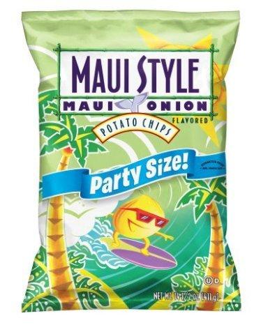 Frito Lay Potato Chips (Maui SSZ Onion Party Size 14.5oz bag) (Potato Onion Maui Chips)