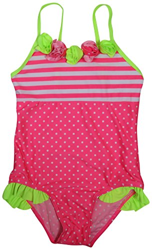 Real Love Girls' 2-Pack One Piece Swimsuit (Little Girls/Big Girls), Polka Dots, Size 7-8' by Real Love (Image #3)