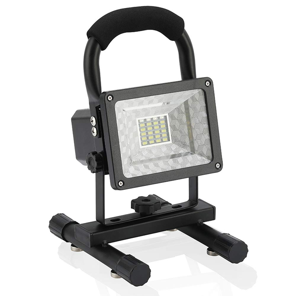 Outdoor floodlight Camping Shop Lights Vaincre 15W 24LED Portable LED Work Lights, Built-in Rechargeable Lithium Batteries with USB Ports to Charge Mobile Devices by Vaincre