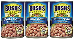 Bush's Best Pinto Beans -16 oz cans (Pack of 3)
