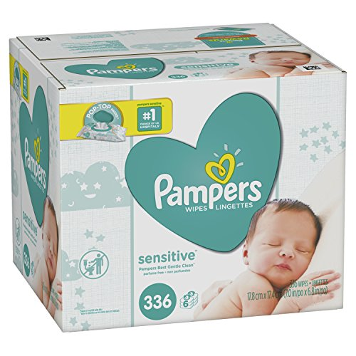 Pampers Baby Wipes Sensitive 6X Pop-Top Packs, 336 Count from Pampers