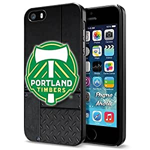 diy zhengSoccer MLS PORTLAND TIMBERS SOCCER CLUB FOOTBALL FC Logo, Cool iphone 5/5s Smartphone Case Cover Collector iphone Black