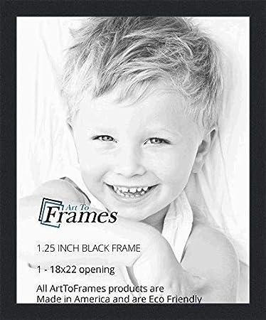 Amazoncom Arttoframes 18x22 Inch Black Picture Frame