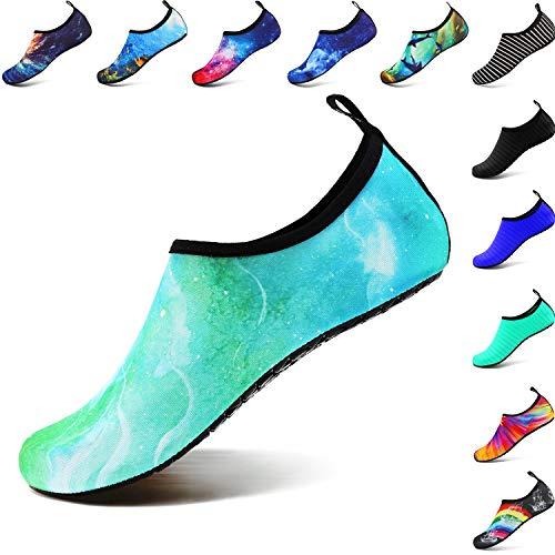 Quick Green De Navigation Conduite Chaussures Danse Aqua Femmes Sports Jardin Le Respirantes Plaisance Welltree Unisexes Parc La Natation D'eau Lac Pour Marble Yoga Marche Plage Dry xIBwq4w