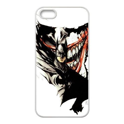 Batman Joker coque iPhone 4 4S Housse Blanc téléphone portable couverture de cas coque EBDOBCKCO09221