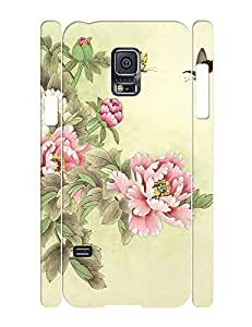 Luxurious Phone Accessories Flowers and Birds Hard Plastic Case Cover for Samsung Galaxy S5 Mini SM-G800 by lolosakes