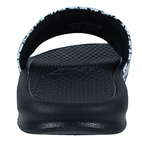 Nike Mens Benassi Basta Farlo Scivolare Sandalo Bianco /// Nero