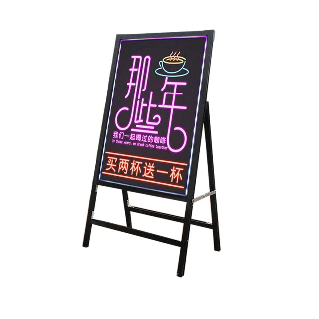 Mesurn JP 電子手書き蛍光ボード、Led発光黒板40 * 60広告ディスプレイボード、小さなメッセージボード看板  black B07MXZ21X1