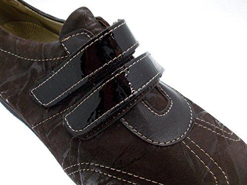 Article L8050 brune extra large femme velcro de chaussure orthopédique