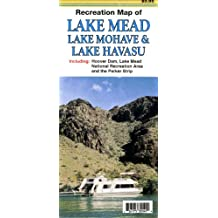 Recreation Map of Lake Mead, Lake Mohave & Lake Havasu, Including Hoover Dam, Lake Mead National Recreation Area and the Parker Strip