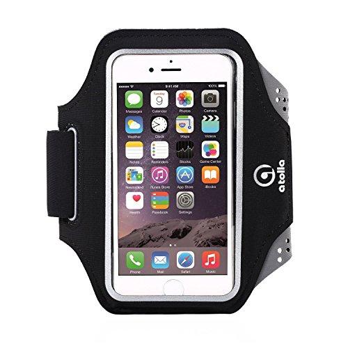Atolla laufen Sportarmband Running armband Hülle Tasche+Schlüsselhalter für iPhone 6 6S SE Galaxy S6 S5 oder bis zu 5.1