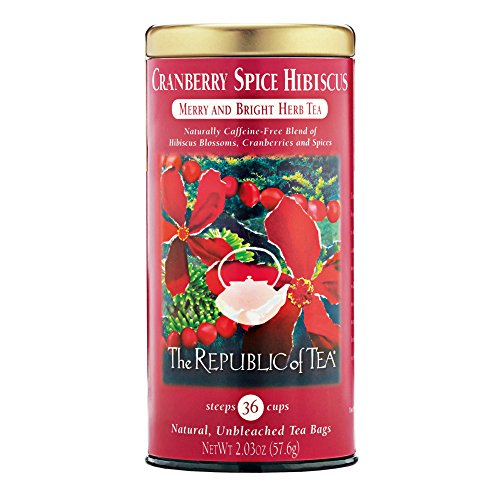 REPUBLIC OF TEA Hibiscus Cranberry Spice Tea, 36 (Hibiscus Spice Tea)