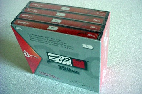 Consumer Electronic Products Iomega PC-Formatted 250 MB Zip Disks 4-Pack, Sku 11066 Supply Store
