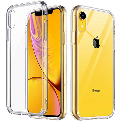 ULAK iPhone XR Case Clear, Slim FIT Premium Transparent Flexible Soft TPU Gel Ultra-Thin Anti-Scratch Bumper Hard Panel Protective Cover for Apple iPhone XR 6.1 inch 2018 (HD Crystal Clear) (Coque Iphone)