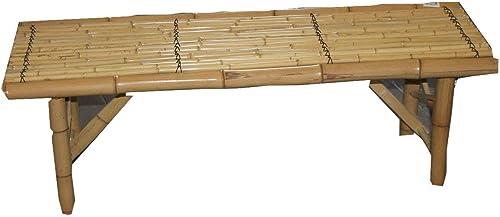 Black Shanghai Folding Bamboo Bench