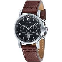 Brown Hawker Hurricane 3-Dimensional Chronograph Watch by AVI-8