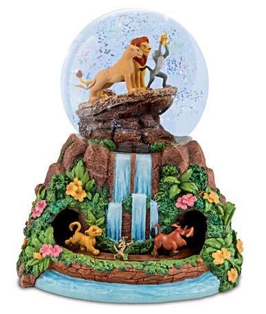 Disney Bradford Exchange Lion King Musical Glitter Globe - Simba Nala Rafiki