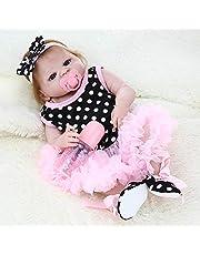 دمية الأميرة من السيليكون بالكامل لدمية الأطفال حديثي الولادة بحجم 55 سم من فيستنايت مع ملابس هدايا لطيفة نابضة بالحياة لعبة قماش منقّط