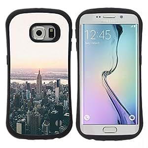 "Hypernova Slim Fit Dual Barniz Protector Caso Case Funda Para Samsung Galaxy S6 EDGE [York visión aérea de Sunrise""]"