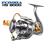 Cheap Ecooda Hornet Heavy Duty Metal Spinning Jigging Fishing Reels Saltwater Boat Rock Bass Fishing Reel HS6000/8000/10000/12000/15000