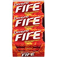 Dentyne Fire Sugar Free Gum (Spicy Cinnamon 16 Piece Pack of 9)