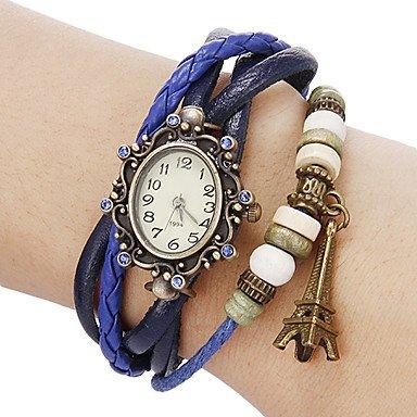 reloj de pulsera de línea flor bohemio de las mujeres: Amazon.es: Relojes