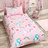 I Believe in Unicorns 2 Piece UK Single/US Twin Sheet Set, 1 x Double Sided Sheet 1 x Pillowcase