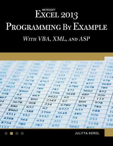 Microsoft Excel 2013 Programming by Example with VBA, XML, and ASP (Computer Science) by Mercury Learning & Information