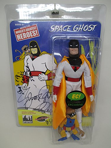 (Space Ghost & Blip 8 Inch Retro Glow in The Dark Figure Set of 2 - Emerald City Comics 2017 Exclusive Signed Edition of 75)