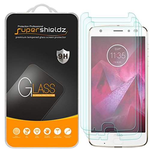 [3-Pack] Supershieldz for Motorola Moto Z2 Force Edition / Moto Z Force Edition (2nd Gen) Tempered Glass Screen Protector with Lifetime Replacement Warranty