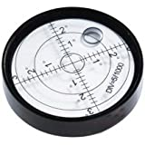 Aluminium Case Bullseye Spirit Bubble Surface Level Round Inclinometers for Surveying Instruments and Tribrachs, Ø60mm ,Accuracy 15'/2