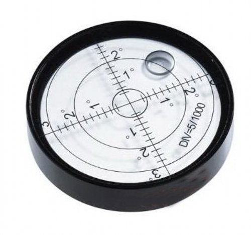Aluminium Case Bullseye Spirit Bubble Surface Level Round Inclinometers for Surveying Instruments and Tribrachs, 60mm ,Accuracy 15'/2