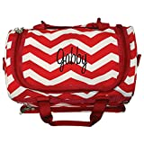 Cheap Personalized Red Chevron Mini Duffle Bag 13″