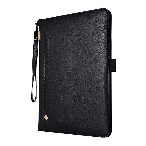 (TOTOOSE iPad 2 3 4 Case,iPad 2 3 4 Case,Skin Premium PU Leather Wallet Snap Case Skin Skin Flip Case Replacement for iPad 2 3 4 Black)