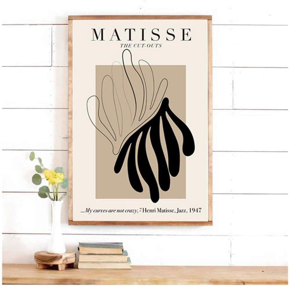 6pcs ohne Rahmen JEfunv Henri Matisse Retro Poster und Drucke Abstrakte Wandkunst Vintage Leinwand Malerei Bilder f/ür Wohnzimmer Wohnkultur 30X40cm 12x16 Zoll
