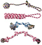 RIO Direct Dog Toys for Large Dogs, Durable Rope Chew Toys Set for Aggressive Chewers Large Dogs - 4 Pack Gift Set Best for Medium to Large Breeds