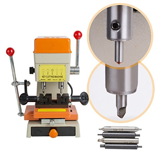Jinon 110V Key Duplicating Machine Key Cutting Machine Horizontal Key Cutter Car Door Key Copy Duplicating Machine US Plug