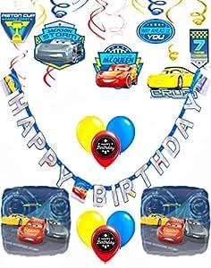 Cars 3 Happy Birthday Party Decoration Kit Bundle